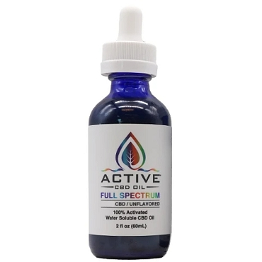 Active CBD Oil Tincture - Water Soluble, Full Spectrum