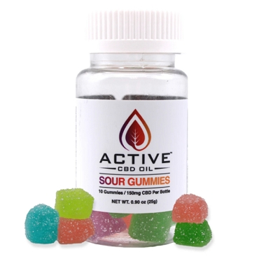 Active CBD Oil Sour Gummies - 150mg